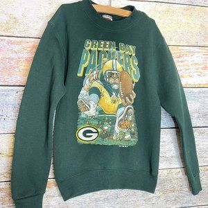 Vintage 1996 Youth kids Green Bay Packers Pullover